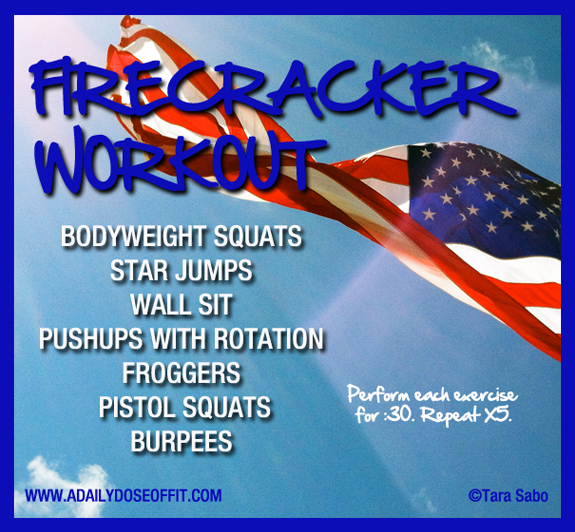 Firecracker Workout, Exercises