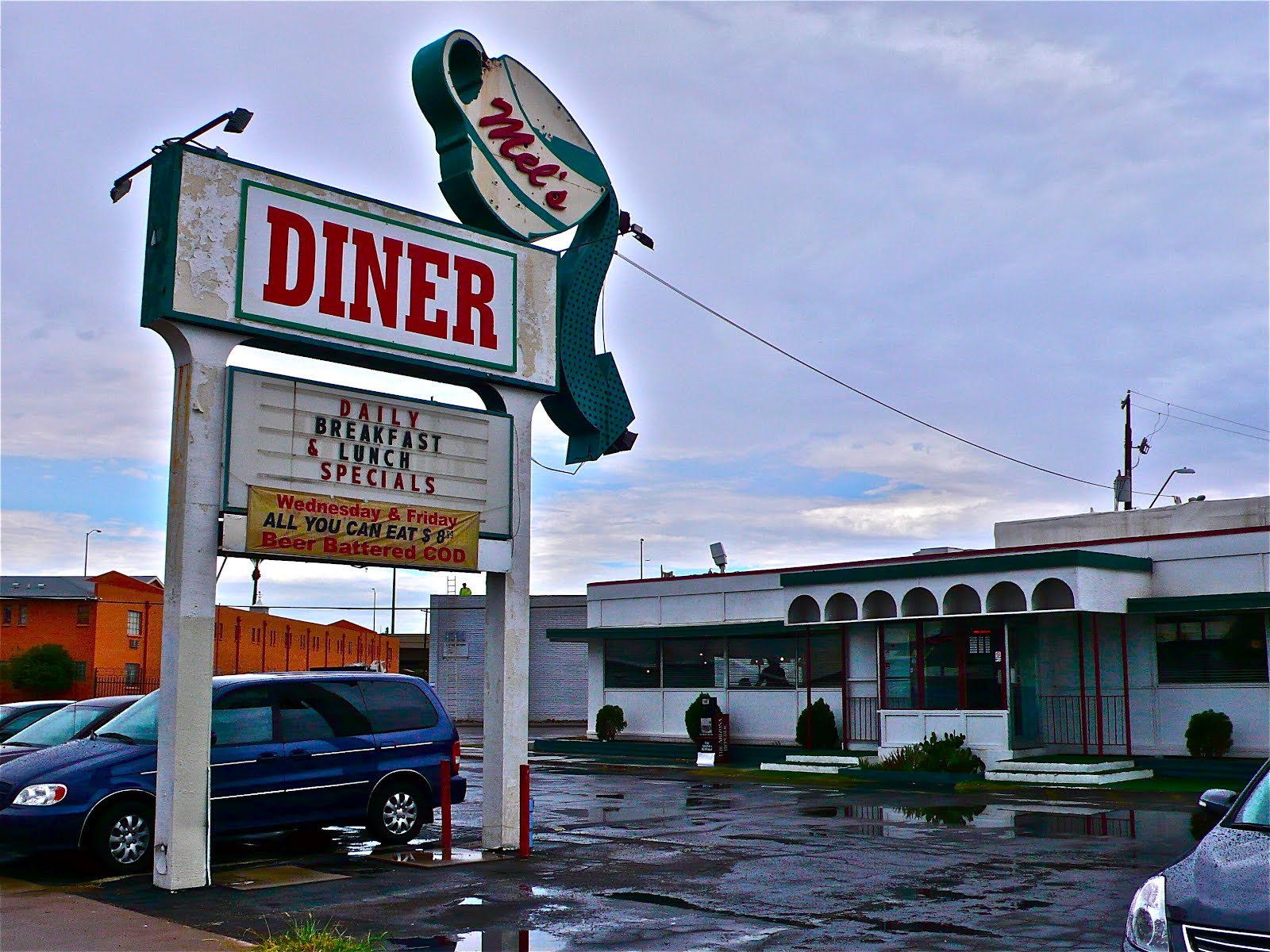This Phoenix Diner Had Me Captivated With Its Large Coffee Cup Pouring Out On Arrow Pointing The Way To Yummy Food