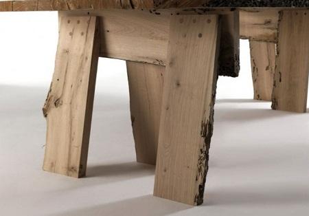 Mesa de madera reciclada postes venecianos - Mesa madera reciclada ...