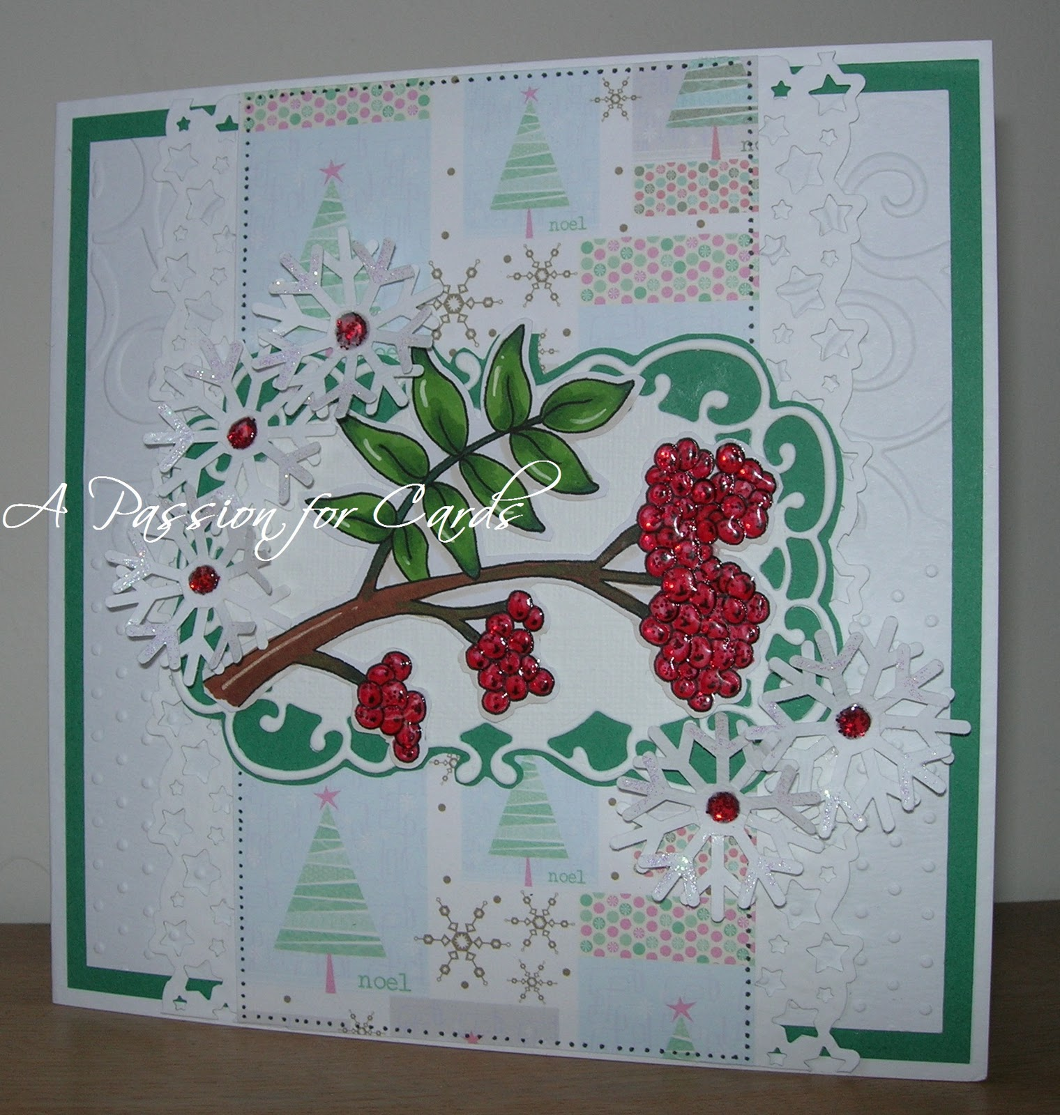 A Passion For Cards Mountain Ash Berries And Snowflakes