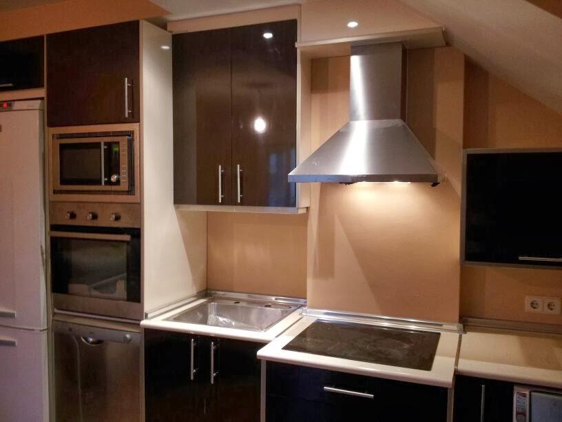 en esta cocina con diferentes la combinacin de los dos tonos disimula las de la cocina