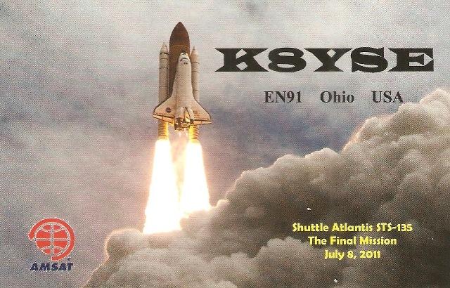 QSL- K8YSE - QSO Sat. FO29 - 31/01/2017 - USA - North America