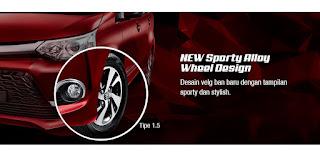 New Sporty Alloy Wheel Design Grand New Veloz