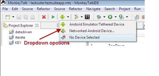 MonkeyTalk connection IDE