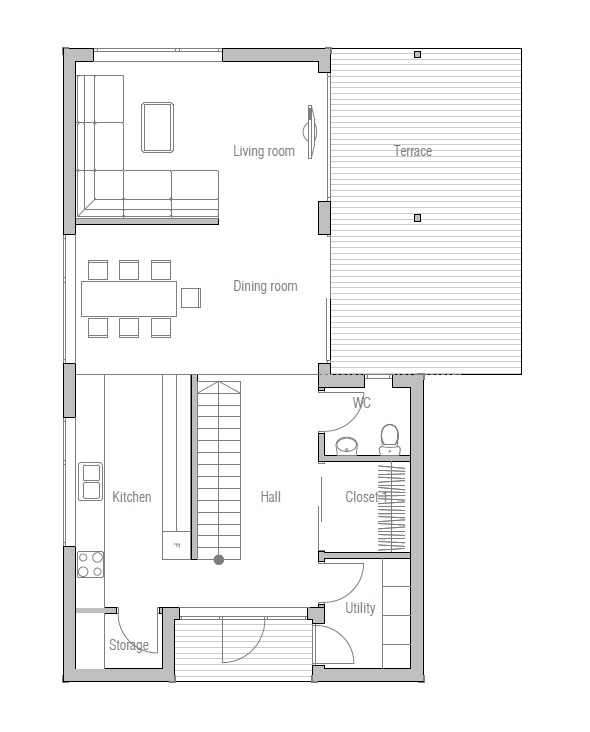 Affordable home plans affordable home plan ch67 for Affordable home floor plans