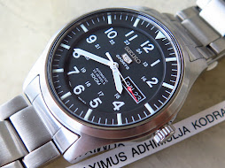 SEIKO 5 SPORTS MILITARY BLACK DIAL BIG CASE - AUTOMATIC 7S36C