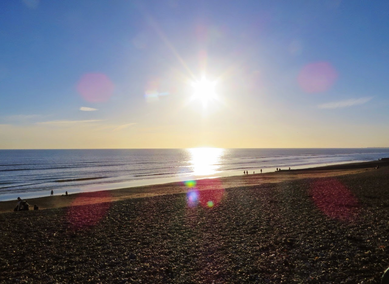 Brighton, Brighton Beach, Beach, Stones, Seafront, Waterfront, England, Sussex, UK, Sun, Winter, February