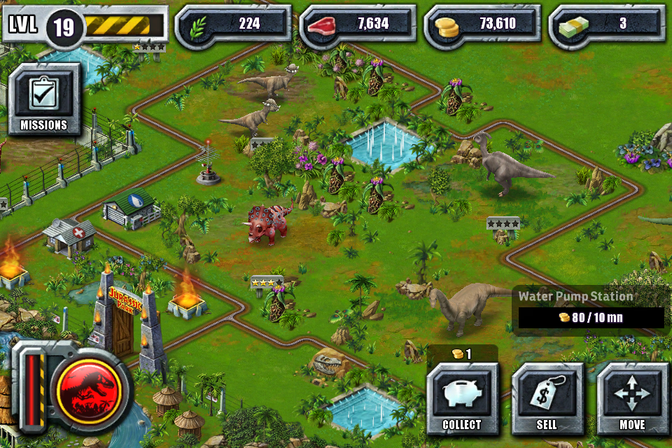 According to whim review jurassic park builder app - Jurassic park builder decorations ...