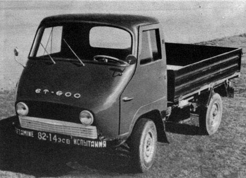 Уникальные устройства: Переднеприводной мини-грузовик ЭТ-600.