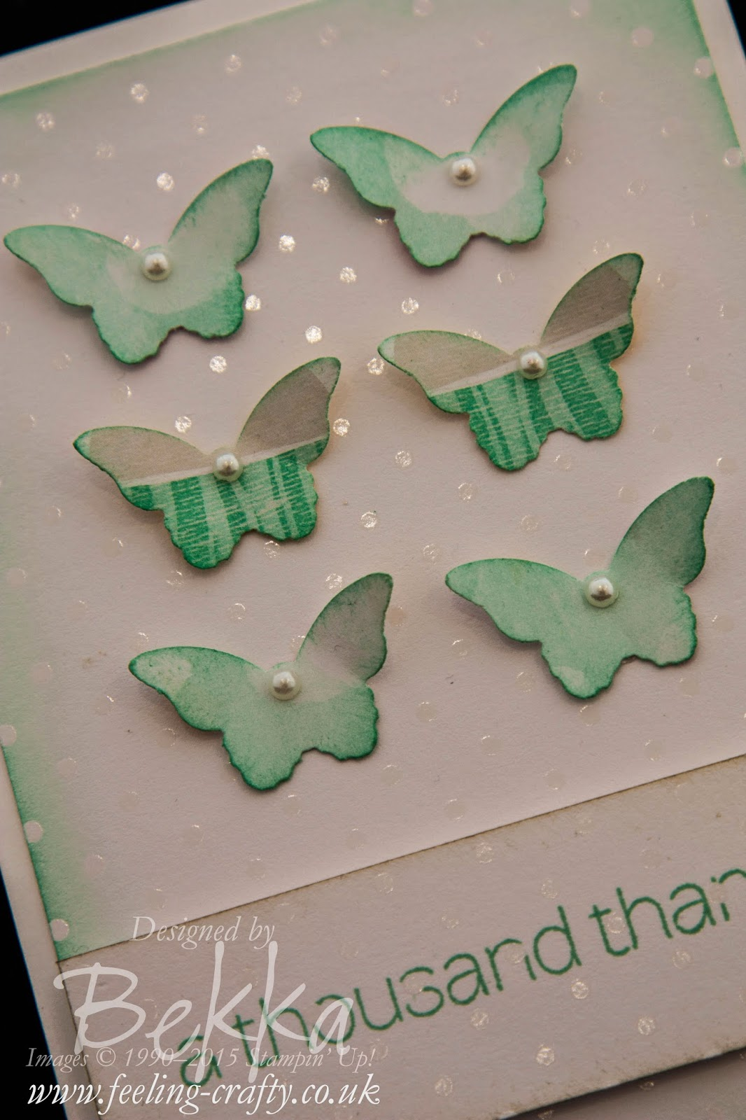 Irresistibly Yours - A Pretty Butterfly Thank You Card - find out how you can get these pretty papers free here