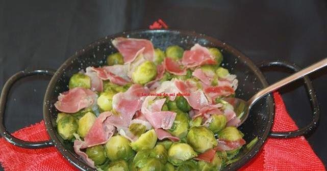 Receta coles de bruselas salteadas con jam n - Como cocinar coles de bruselas ...
