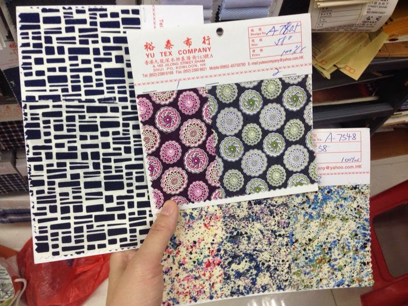sham shui po fabric shopping