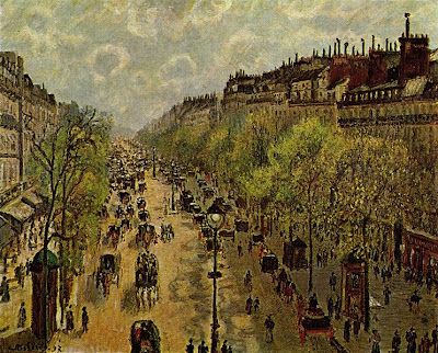 Pissarro Boulevard Monmartre a primavera