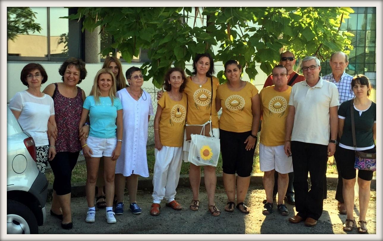 Nuestro grupo mixto (Esclerodermia y Lúpicos Solidarios) de meditación
