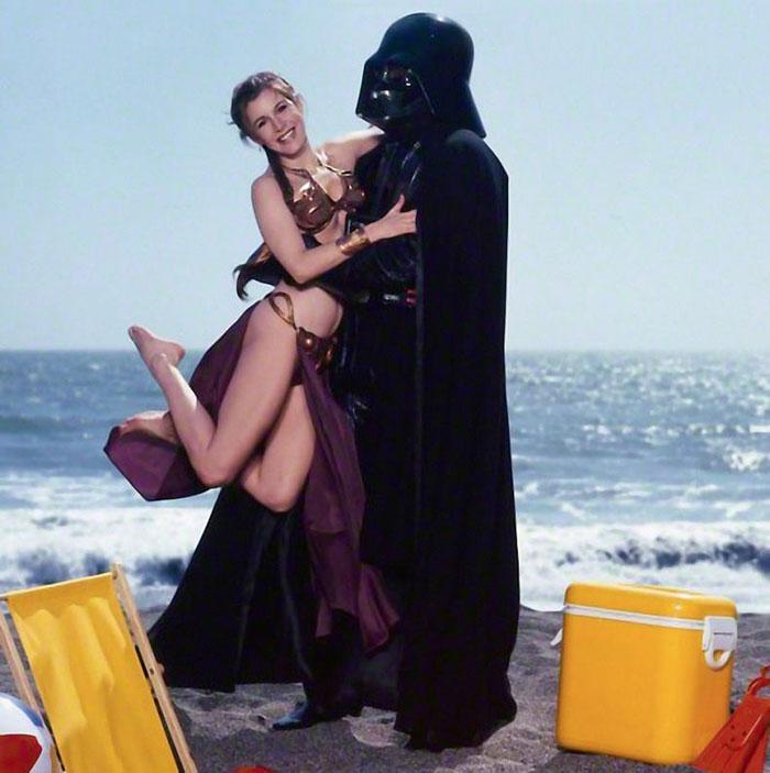 Vader hugs Leia