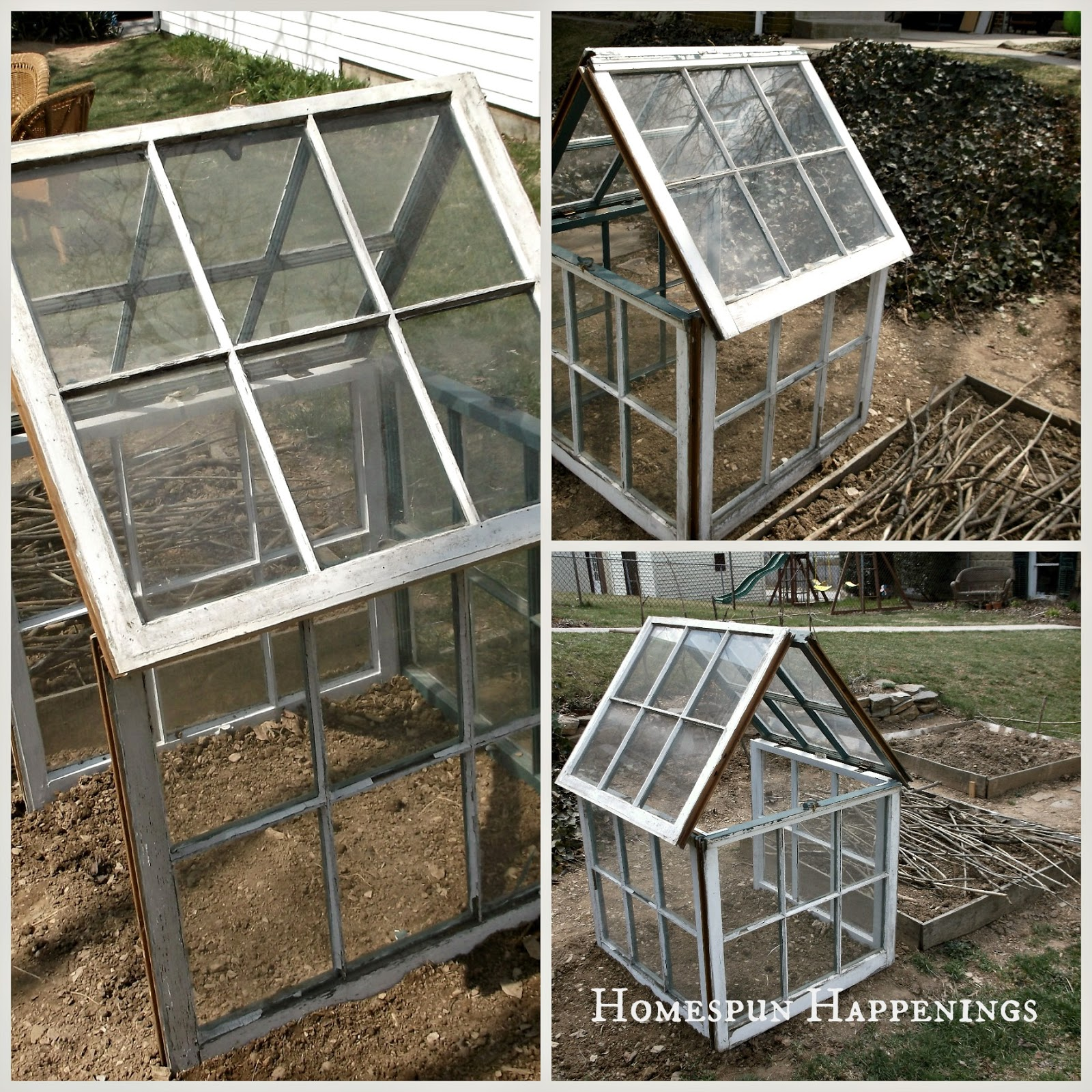 homespun happenings diy greenhouse out of old windows