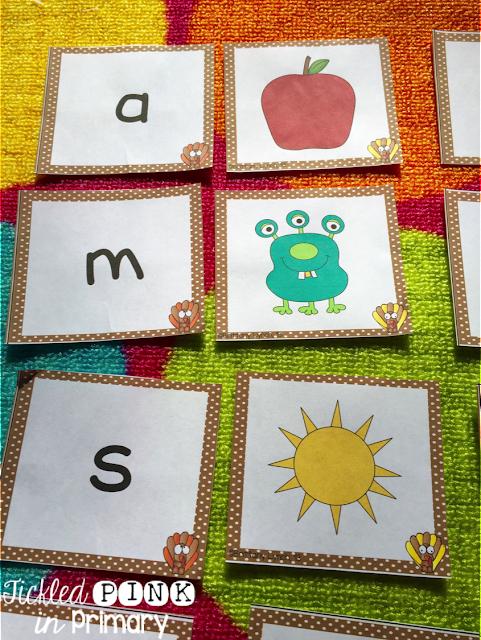 Beginning Sound Game | Thanksgiving Literacy and Math