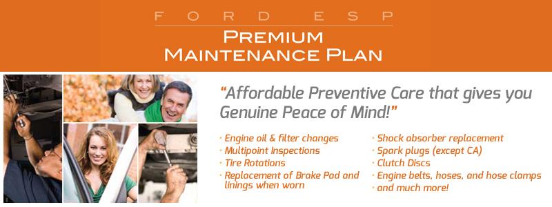Free Premium Maintenance Plan - Ford 100 Hour Sale