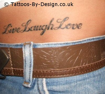Tattoo Love Quotes on Live Laugh Love Tattoo On Live To Love Love To Live Quote