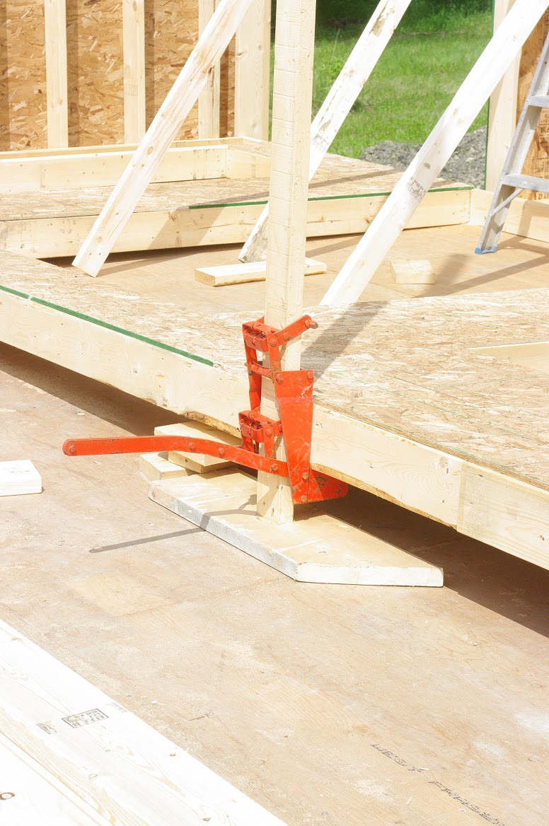 Wall Jacks For Framing thousand square feet: day 20 - the sun came out and the walls went