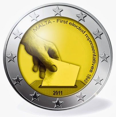 2 euro Malta 2011, Constitutional history – first election of representatives in 1849