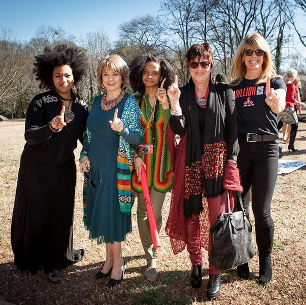 Me with  Laura Turner Seydel, Pat Mitchell, Eve Ensler, and Doria Roberts