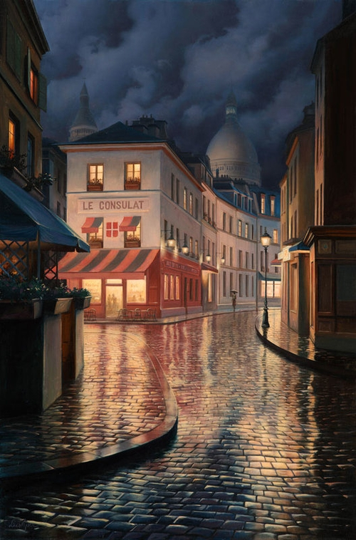 12-Le-Consulat-Evgeny-Lushpin-Scenes-of-Realistic-Night-Time-Paintings-www-designstack-co