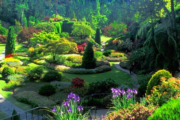 Colorful butchart gardens victoria canada virtual for Jardines butchart