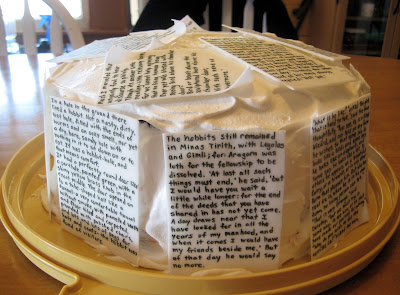 Classic Book Pages Cake 3