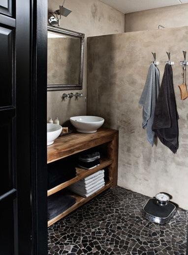 High Quality Compartimos Algunas Imagenes De Baños Donde El Cemento Alisado Es El  Protagonista.