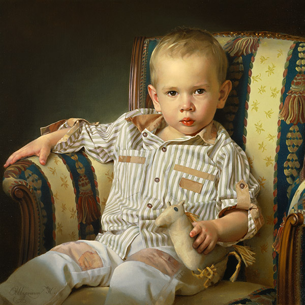 Nikolai Shurygin oil painting portrait