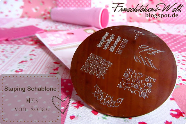 Review German Dream Nails Konad Stamping Schablone M73