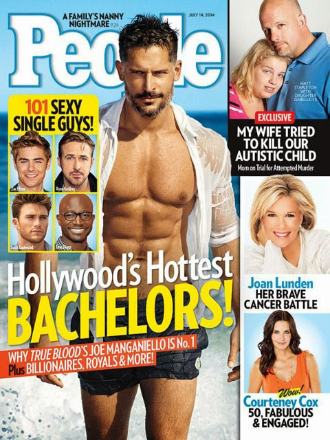 Joe Manganiello is People Magazine's Hottest Hollywood Bachelor for 2014 - check the shirtless pics of the famous True Blood werewolf