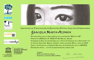 """""""Certificado de Participación Exposición Proyecto Enredadas III"""""""