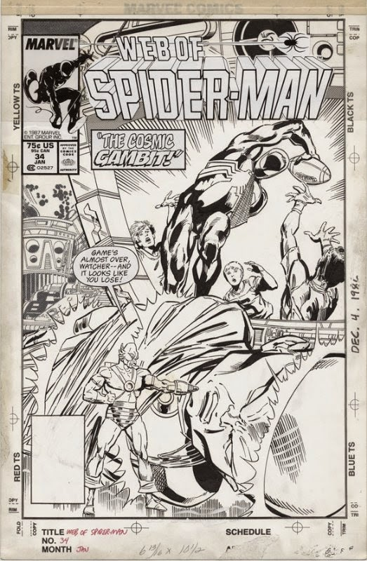 Marvel Comics Of The 1980s 1988 Anatomy Of A Cover Web Of