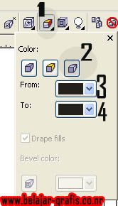 Catatan: untuk 3 dan 4 gambar di atas adalah untuk menentukan warna