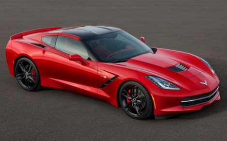 red 2014 chevrolet corvette C7 sports car exterior