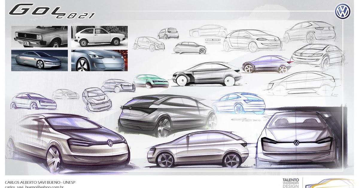 CARLOS BUENO: VW Gol 2021 - 2º lugar Talento VW Design