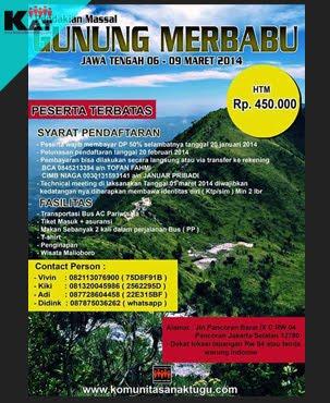 Pendakian Merbabu 2014