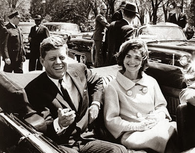 President John F Kennedy and Jackie