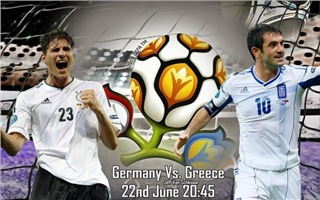Germania-Grecia streaming 22 Giugno