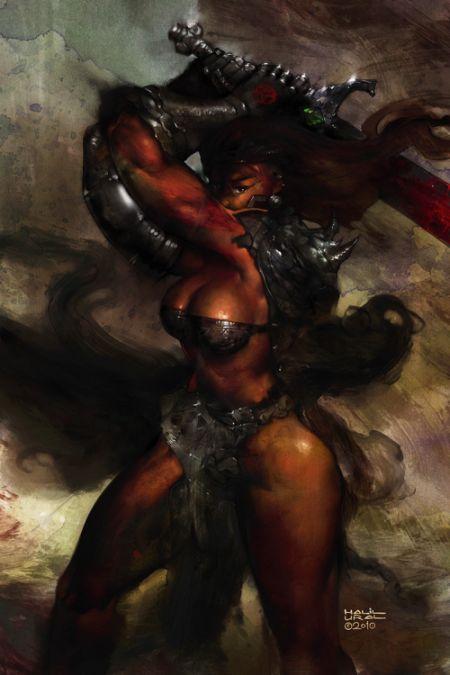 Halil Ural mrdream deviantart ilustrações fantasia arte conceitual Guerreira da vingança