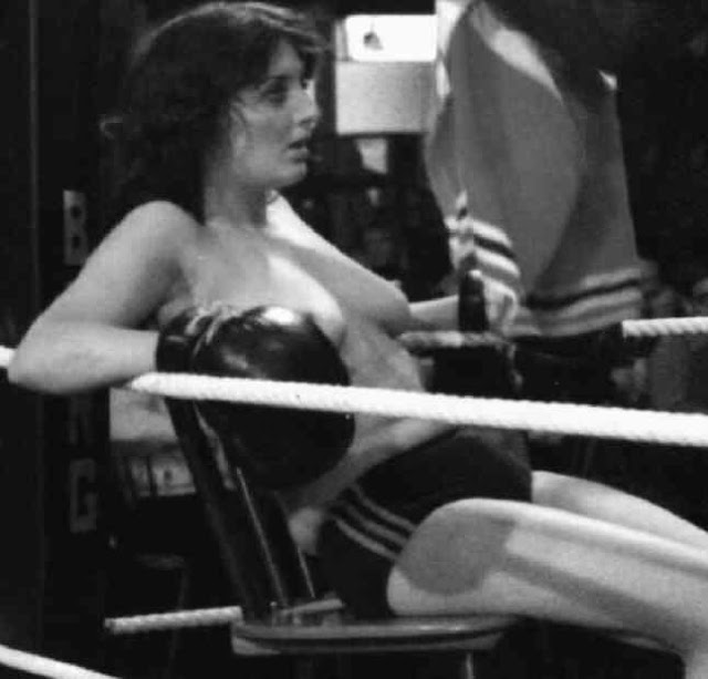 Amusing Action girls boxing topless are absolutely