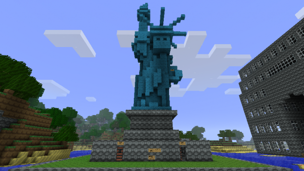 Minecraft building ideas statue of liberty for House build ideas