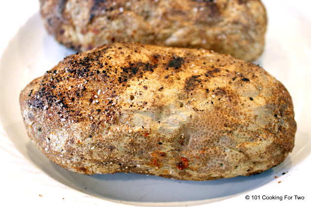 Grilled Whole Baked Potatoes without Foil from 101 Cooking For Two