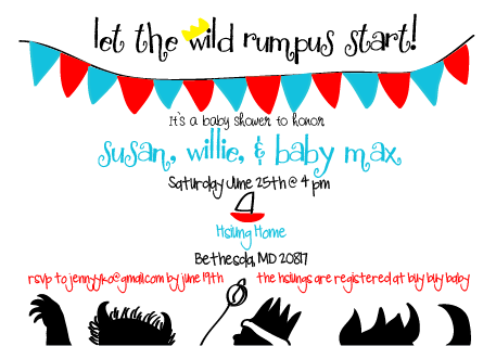 graciekdesigns where the wild things are baby shower