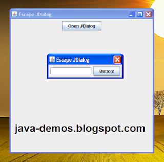 Closing JDialog on escape using ActionListener