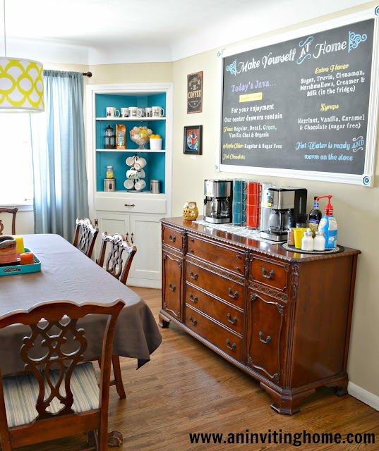 pops of color in dining room