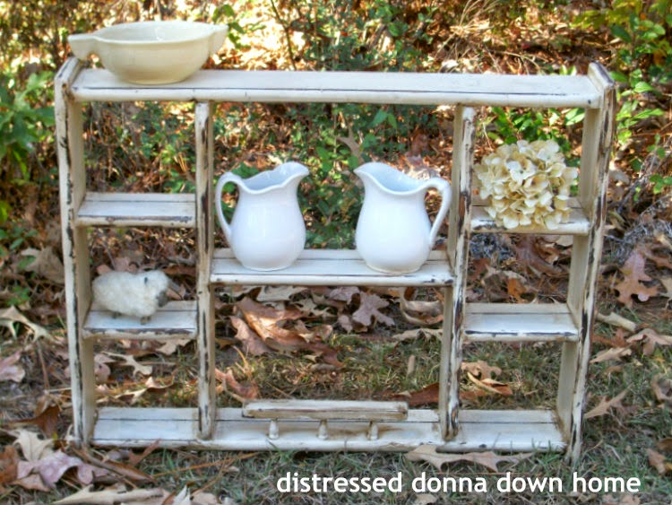 distressed painting, plate rack