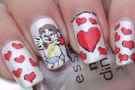 Diseños Romanticos para Uñas Pintadas, Cupido, San Valentin